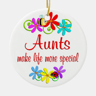Special Aunt Double-Sided Ceramic Round Christmas Ornament