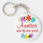 Special Auntie Basic Round Button Keychain