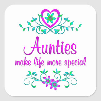 Special Auntie Square Sticker