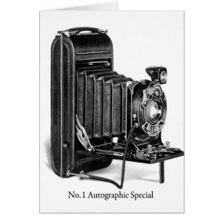 Special autográfico de Photograpy No.1 de la Tarjeta De Felicitación