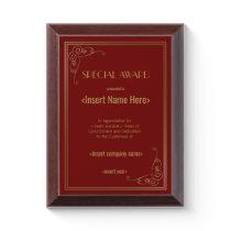 Special Award Plaque