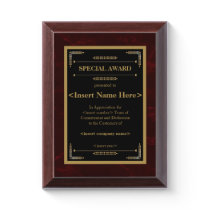 Special Award Plaque