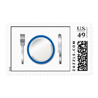 Special azul de la placa sellos postales