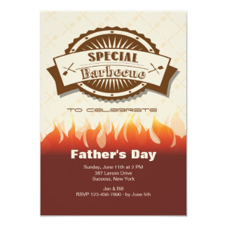 Special Barbecue Father's Day Invitation