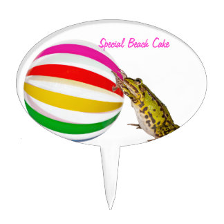 Special Beach Cake. Beach time for frogs Cake Topper