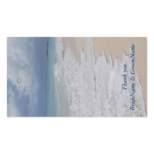 Wedding Gift Thank You Card Template : Beach Wedding Thank you Gift Tags Double-Sided Standard Business Cards ...