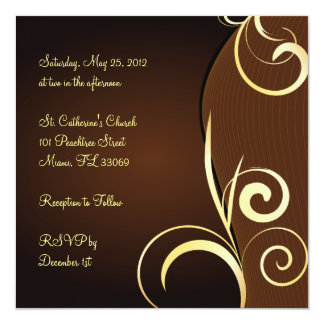 Special birthday or anniversary 5.25x5.25 square paper invitation card