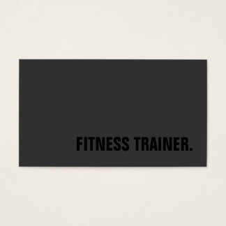 Special Black Out Grey Fitness Trainer Trendy Business Card
