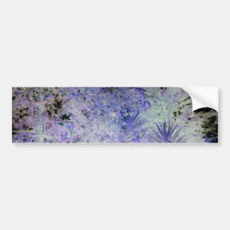 Special blue and white beautiful flowers bumper sticker