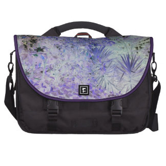 Special blue and white beautiful flowers laptop commuter bag