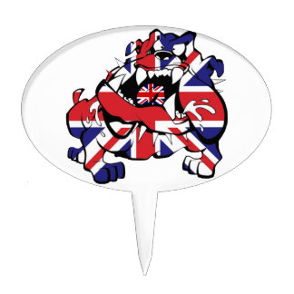 Special British Bulldog Cake Toppers