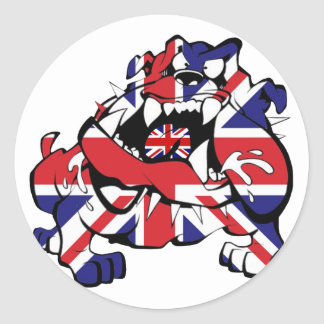 Special British Bulldog Classic Round Sticker