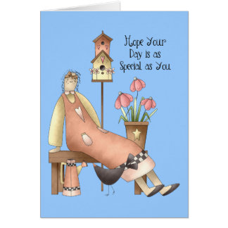 Special como usted carda tarjeta de felicitación