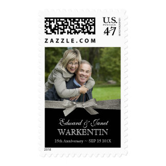 Special Couple Photo 25th Anniversary Postage
