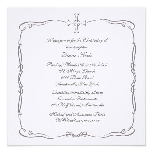 Special Cross Religious Invitation
