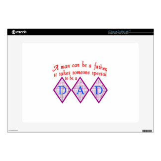 """Special Dad 15"""" Laptop Decal"""
