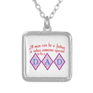 Special Dad Square Pendant Necklace