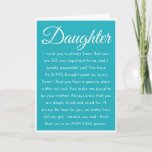 "Special Daughter HAPPY BIRTHDAY Wishes Card<br><div class=""desc"">Celebrate your daughter with this heartfelt birthday message from Mother or Father. If you have a special bond and deep love and appreciation for your daughter, this Inspirational Happy Birthday Daughter card is it! This sentimental birthday quote is sure to move your daughter to tears and fill her heart with...</div>"