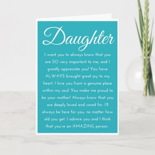 Special Daughter Happy Birthday Wishes Card Zazzle Com