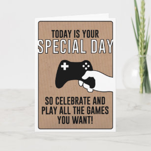 Special Day Gamer Birthday Card Personalisable