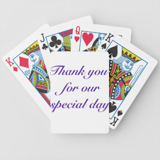 special day thanks bicycle playing cards