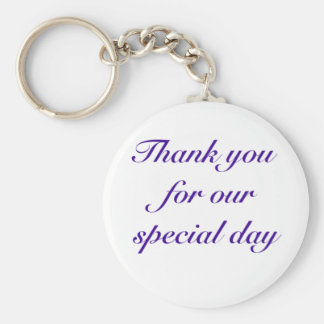 special day thanks keychain