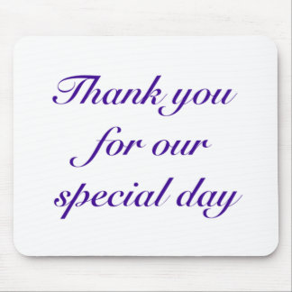 special day thanks mouse pad