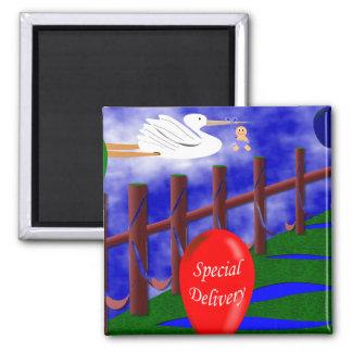 Special Delivery 2 Inch Square Magnet