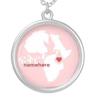 Special Delivery - Amharic Adoption - pink Custom Necklace