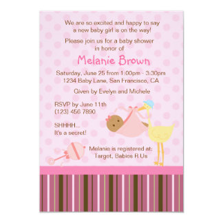 Special Delivery Baby Shower Invite [Baby Girl]