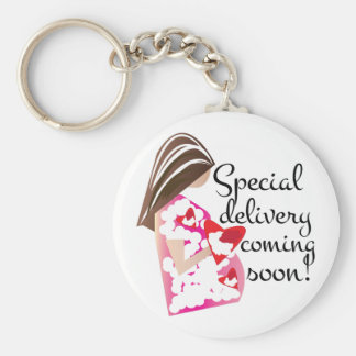 Special Delivery Basic Round Button Keychain