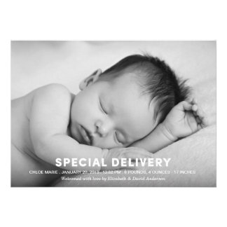 SPECIAL DELIVERY | BIRTH ANNOUNCEMENT