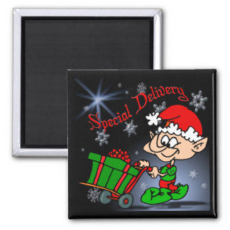 Special Delivery Christmas Magnet