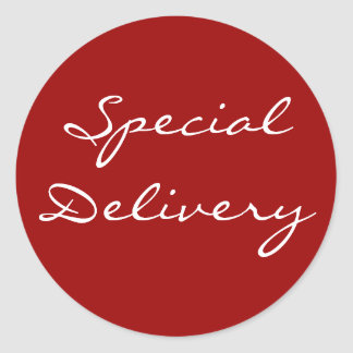 Special Delivery Christmas Sticker Red 2