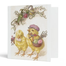 Special Delivery Easter Chicks 3 Ring Binder