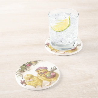 Special Delivery Easter Chicks Drink Coaster