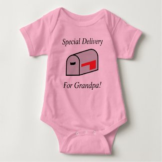 Special Delivery For Grandpa Jersey Baby Bodysuit