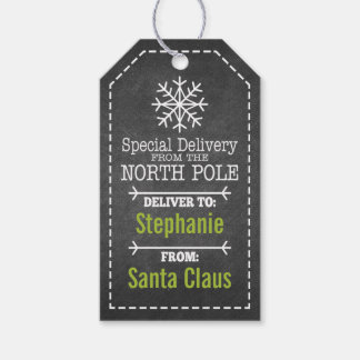 Special Delivery From North pole and Santa Claus Pack Of Gift Tags