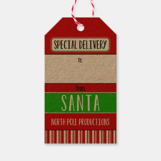 Special Delivery From Santa Gift Tags
