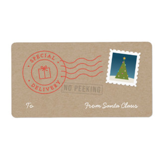 Special Delivery Gift Tag Label