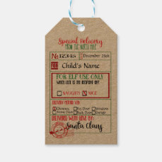 Special Delivery - Gift Tags from Santa - North