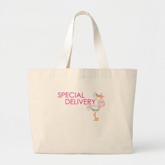 SPECIAL DELIVERY GIRL.png Large Tote Bag