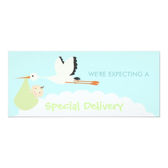Special Delivery (Green & Blue) Card