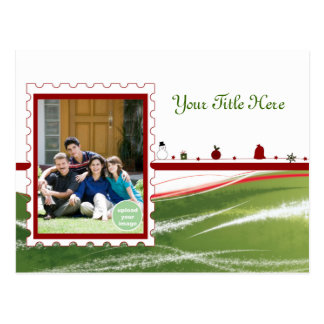 Special Delivery Green Post Card