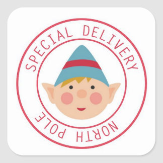 Special Delivery North Pole Elf Stickers