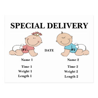 SPECIAL DELIVERY Postcard Birth An...