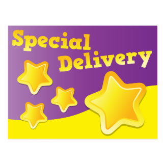 Special Delivery Stars cute! Postcard