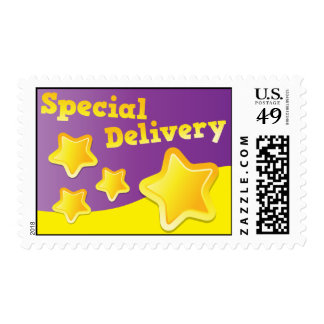 Special Delivery Stars cute! Stamp
