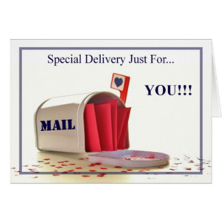 SPECIAL DELIVERY... STATIONERY NOTE CARD