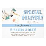 Special Delivery - Vintage Stork Custom Invite